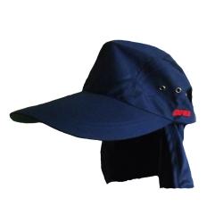 Gorra Rapala Color Azul Con Protector De Cuello Removible