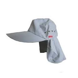 Gorra Rapala Color Gris Claro Con Protector De Cuello Removible