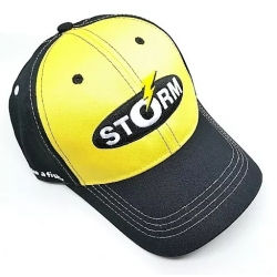 Gorra Storm negra con amarillo